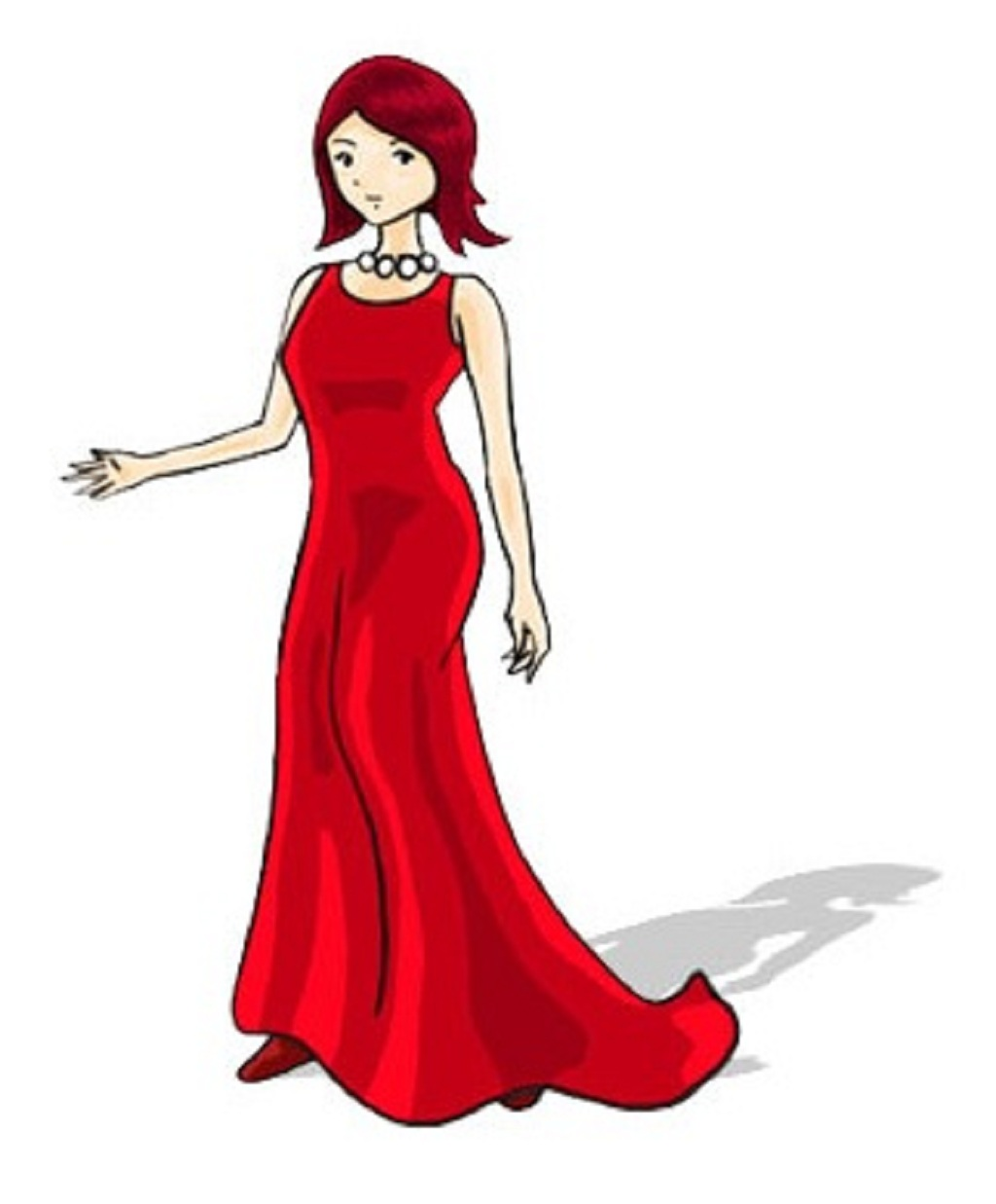 Dress clipart prom dress Women Clip royalty vector