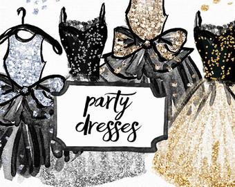 Dress clipart prom dress Dress Hand gold cocktail Clip