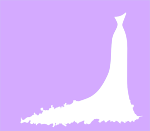 Gown clipart violet Clip Wedding online  vector