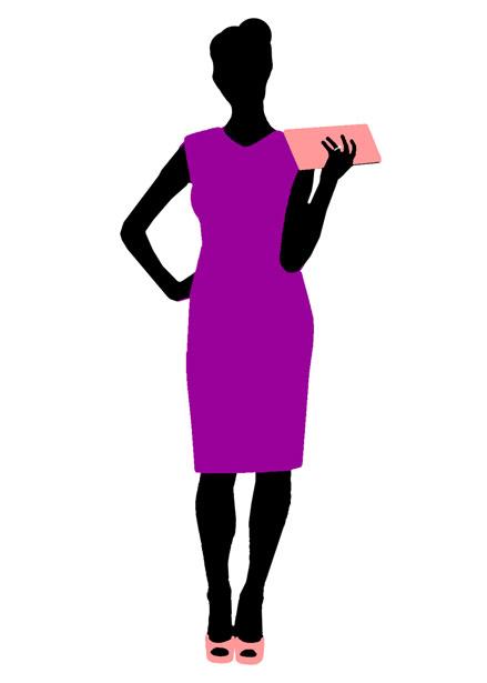 Dress clipart purple dress With Dress Domain Free