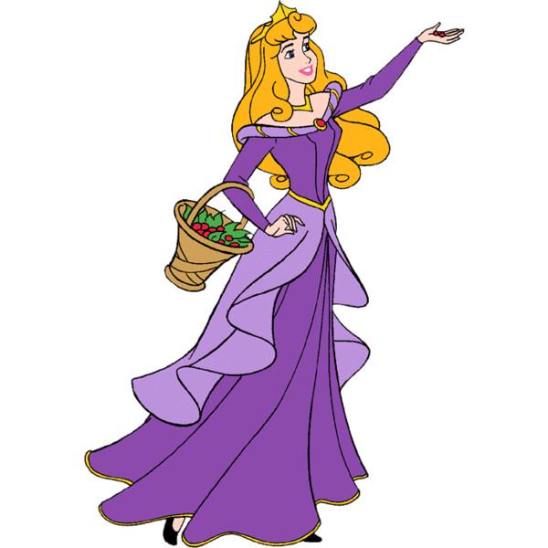 Dress clipart purple dress Aurora sleeping art clip beauty