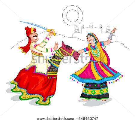 Traditional Costume clipart folk Rajasthani BBCpersian7 dance ClipartFox rajasthan