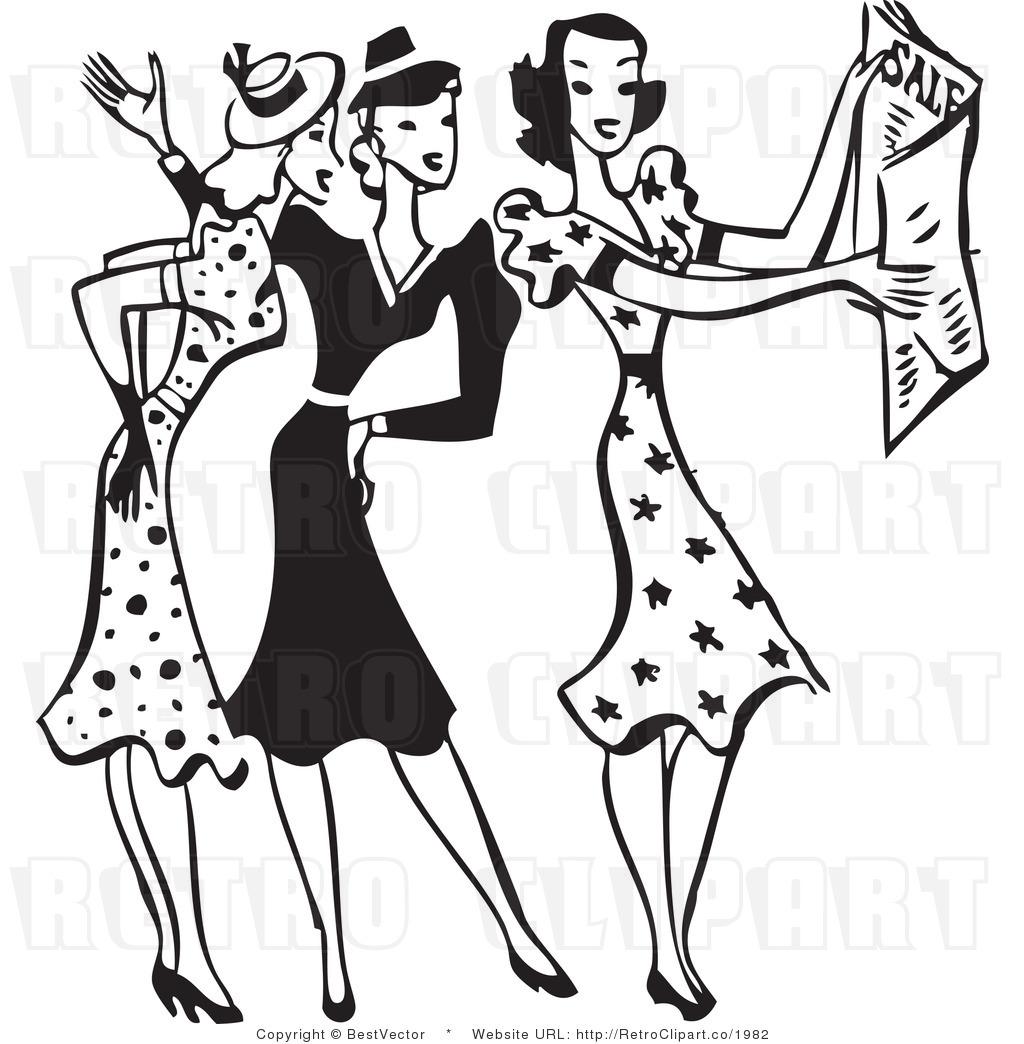 Dress clipart retro Collection Fashion Clip Clipart Form