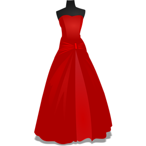Red Dress clipart formal dress Gown  eps download of