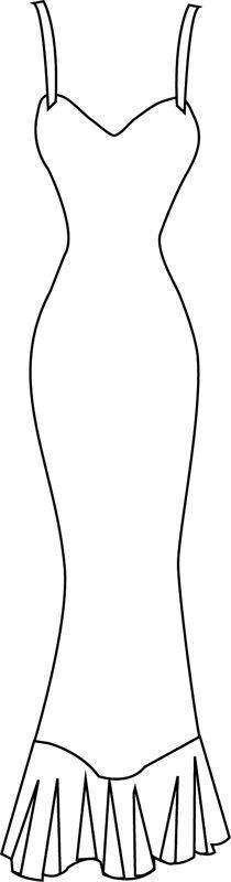 Dress clipart robe Diy robe Pinterest on longue