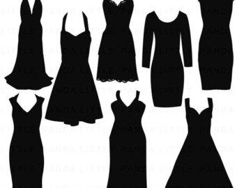 Dress clipart silhouette Silhouette Dress Dress Suggestions Keywords