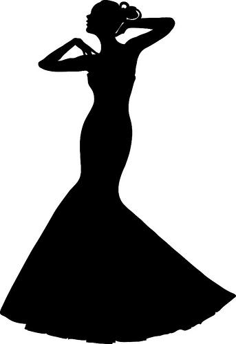 Dress clipart silhouette Dress Wedding a Bride a