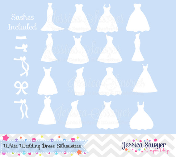 White Dress clipart silhouette Dresses  silhouette clipart cards