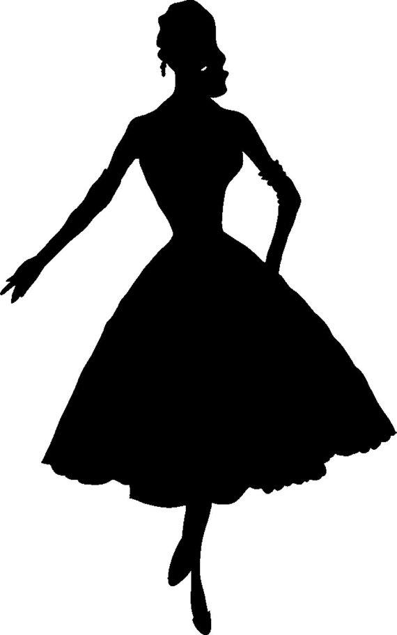 Dress clipart silhouette Woman Silhouette Download Silhouette Clip