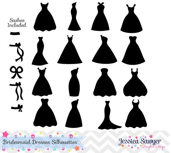 Dress clipart silhouette Dresses Bridesmaid Best Diy ideas