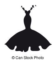 Dress clipart silhouette Dress  and silhouette 216