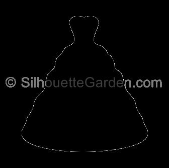 Dress clipart silhouette Dress Wedding JPG versions the