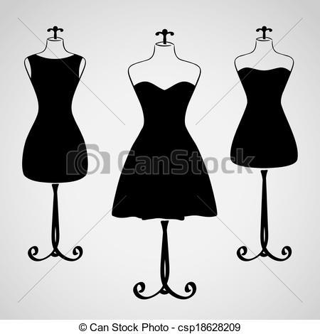 Dress clipart silhouette Classic  Stock Clip Dress