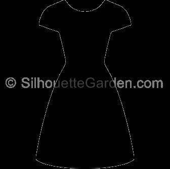 Dress clipart silhouette Silhouette Dress Silhouette