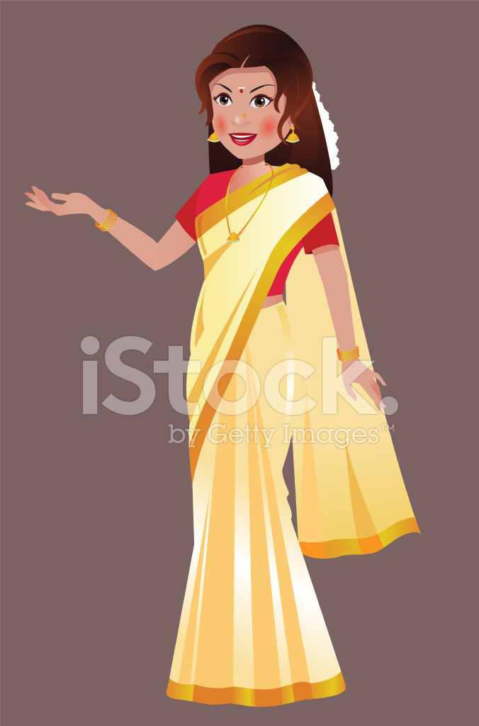 Saree clipart south indian #13