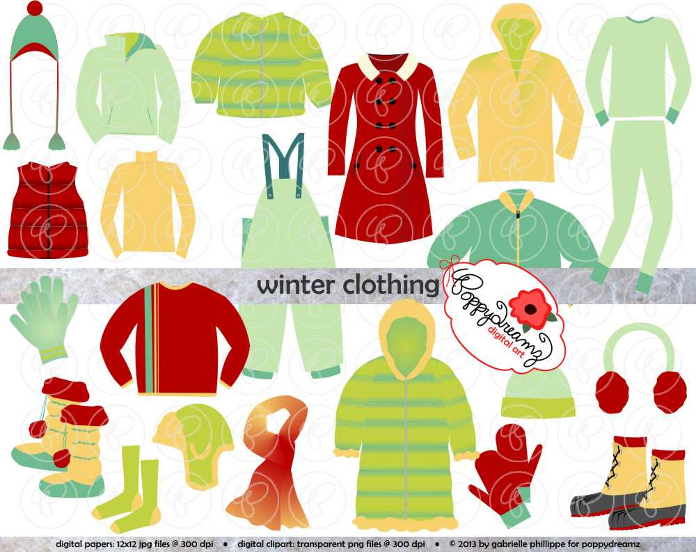 Glove clipart winter boot Collection clipart Use on clothes