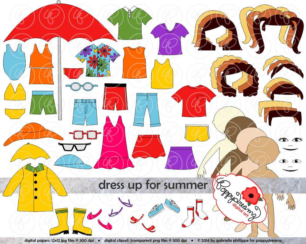 White Dress clipart spring clothes Sundress Paper Digital Clipart Summer