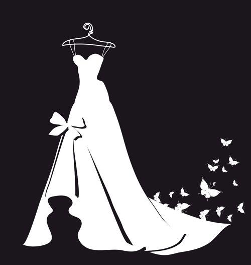 Dress clipart stencil Images about Silhouettes Clipart Pinterest