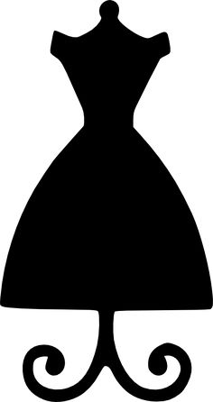 Dress clipart stencil Crafts creating Use dressform the