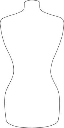 White Dress clipart printable Outline Dress torso DRESS Use