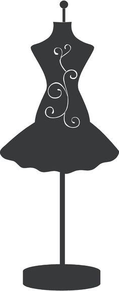 Dress clipart stencil  Manichini Dress Pinterest Silhouettes
