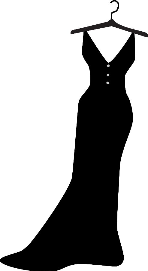 Gown clipart little black dress Best Cutting images 29 CLOTHES