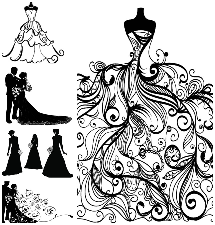 Bride clipart vector Free Clipart Free in Art