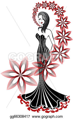 Slender clipart body weight A woman dress Slender