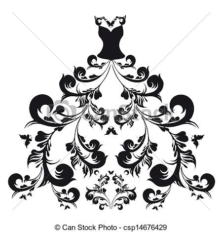 Coture clipart black and white Gown drawings #17 Download clipart