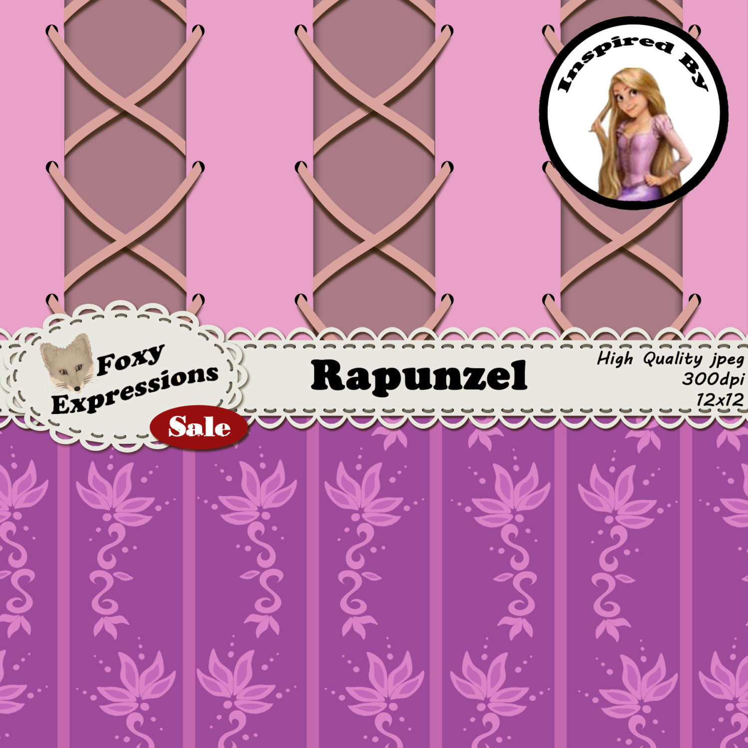 Dress clipart tangled Is file comes in Rapunzel