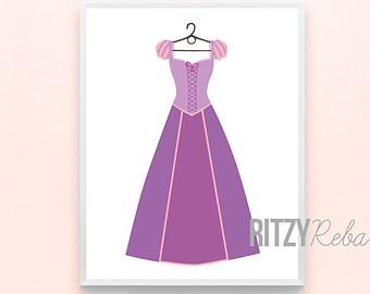 Dress clipart tangled Princess clipart Disney disney dress