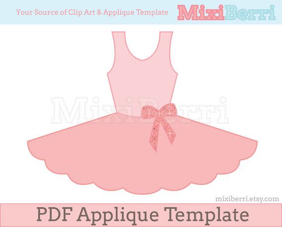 Ballerine clipart template Pattern Pattern PDF Template Applique