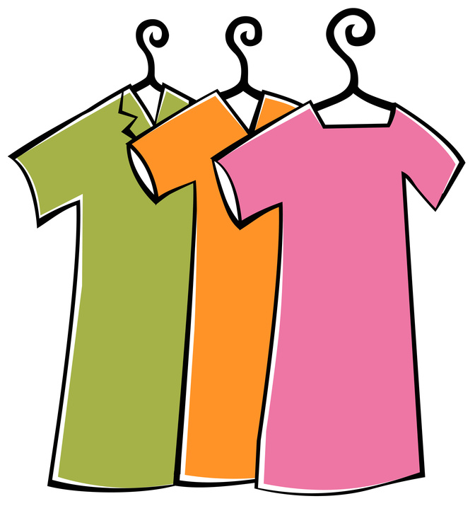 Dress clipart transparent background Colorful Clipart  Clothes