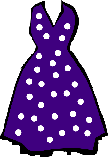 Gown clipart purple dress Dress Free Polka Clip Clipart