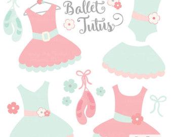 Dress clipart tutu dress Pink Mint Clip Art Clip