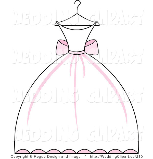 Bride clipart bridesmaid dress #4