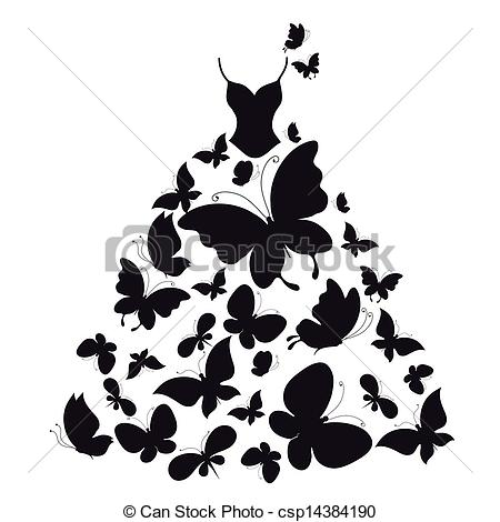 Gown clipart vector Stock royalty illustrations dress Vector
