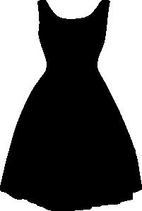 Dress clipart vector art Dress Retro art vector clip