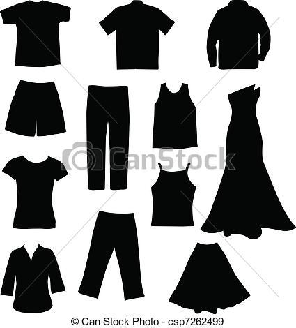 Dress clipart vector art Clothes csp7262499 vector Art Search