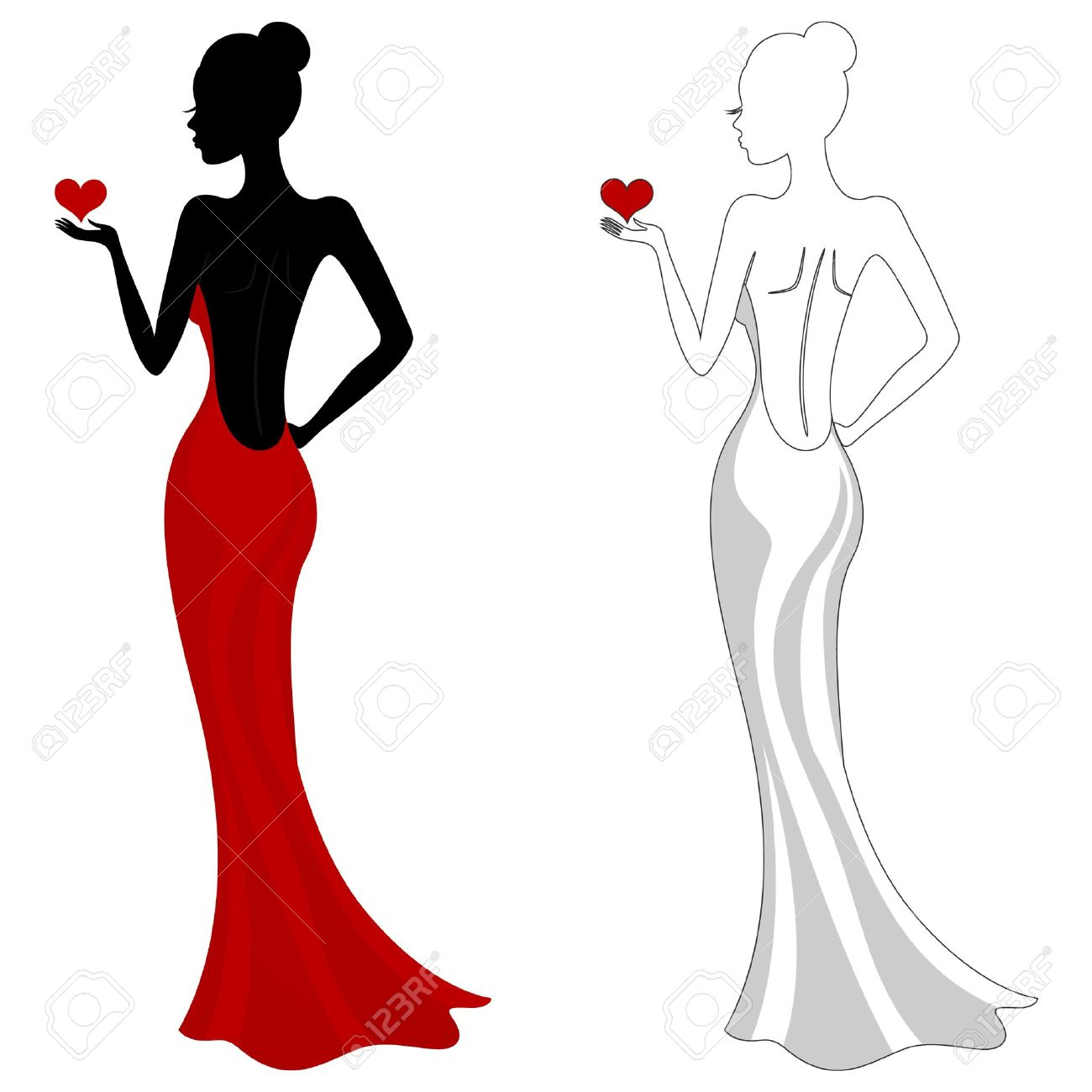 Gown clipart beautiful dress Con Buscar Dress Illustrations Google