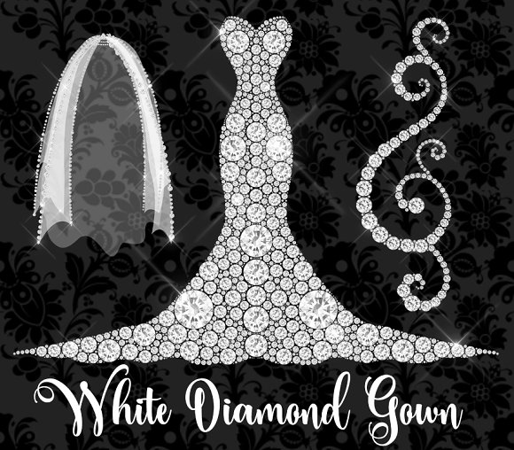 Wedding Dress clipart debutante White Wedding Market Dress Diamond