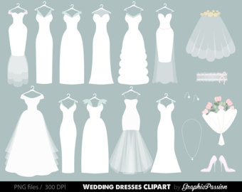Gown clipart bride dress Clipart clip dress Bridal Wedding