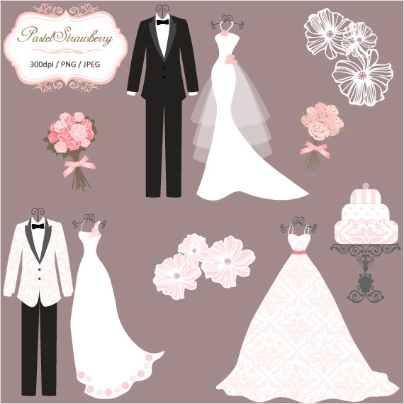 White Dress clipart wedding suit Clip Wedding And Tux dress