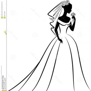 Gown clipart vintage wedding dress Art Dress Vintage Wedding Art