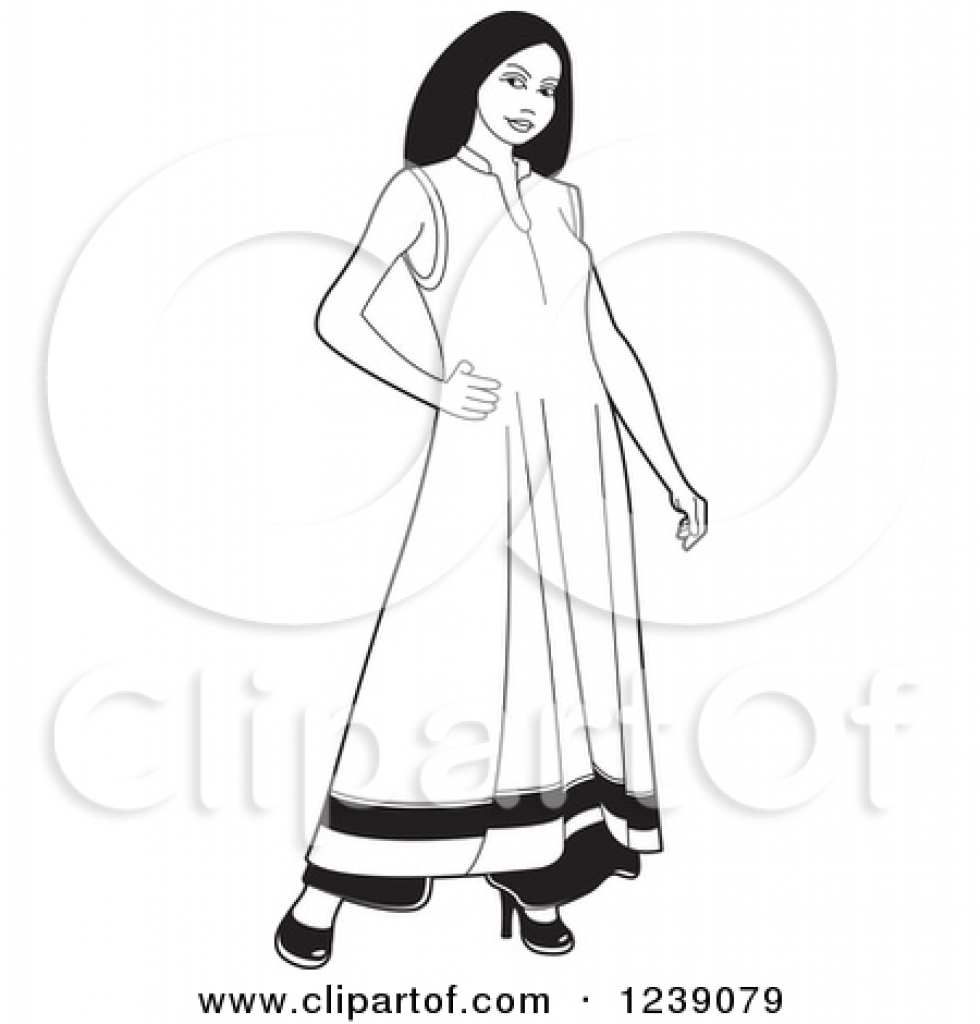 Dress clipart woman in black Frock black woman of frock