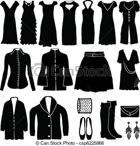 Dress clipart womens clothes Womens Vector of Clip clothing