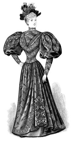 Gown clipart old fashioned And art art Edwardian white
