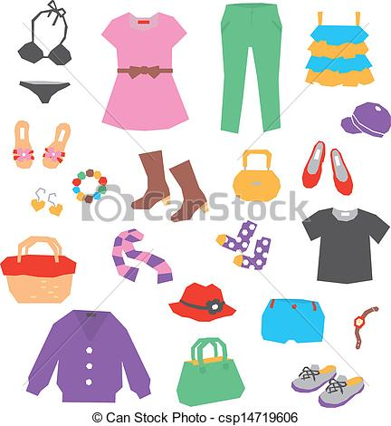 Dress clipart womens clothes  Collection with dress: Pack