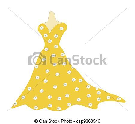 Gown clipart yellow dress Vector at Clkercom art Yellow