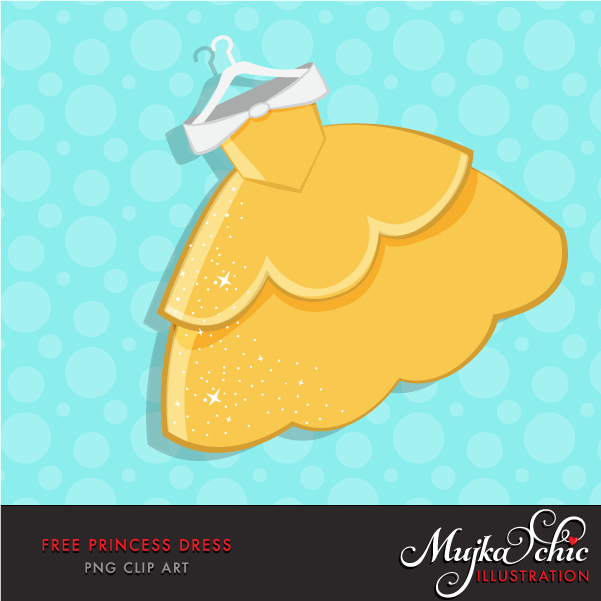 Dress clipart yellow dress Princess Dress Clip Free art